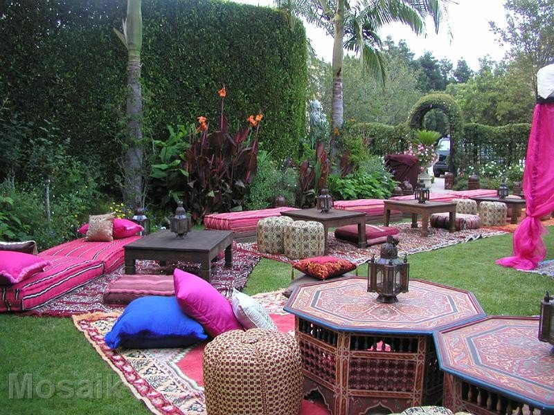 Outdoor Moroccan Floor Pillows : Sweet 16th Moroccan Party